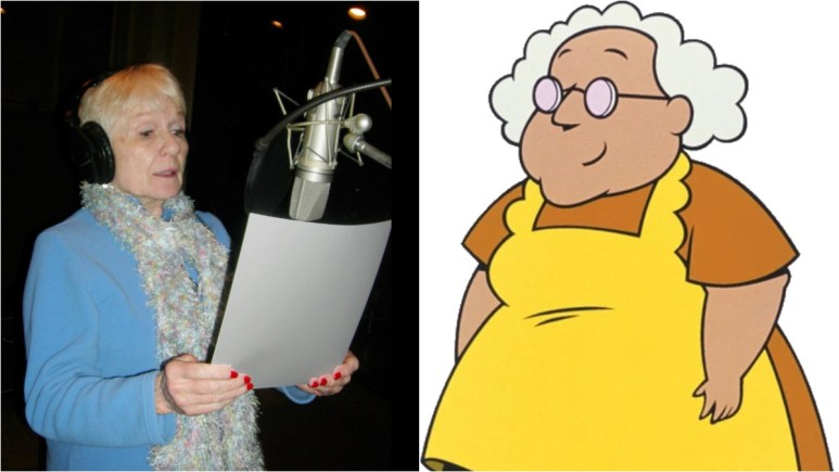 Thea White real photo next to Muriel.