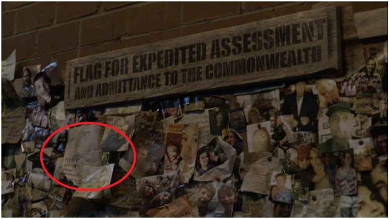 Heath's name featured on the Wall of the Lost, as seen in Episode 1 of AMC's The Walking Dead Season 11