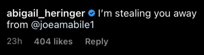 Abigail Heringer instagram comment