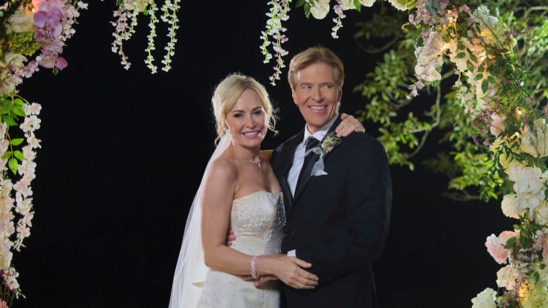 Josie Bissett and Jack Wagner in Sealed With a Kiss: Wedding March 6.