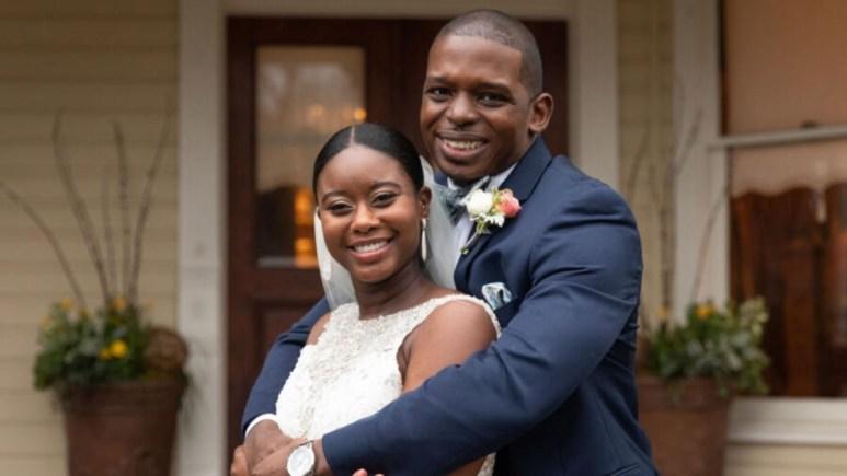 MAFS Deonna and Greg smile on their wedding day