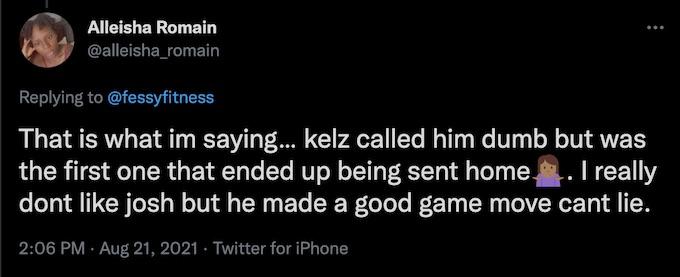 fan replies fessy shafaat tweet about josh chess move