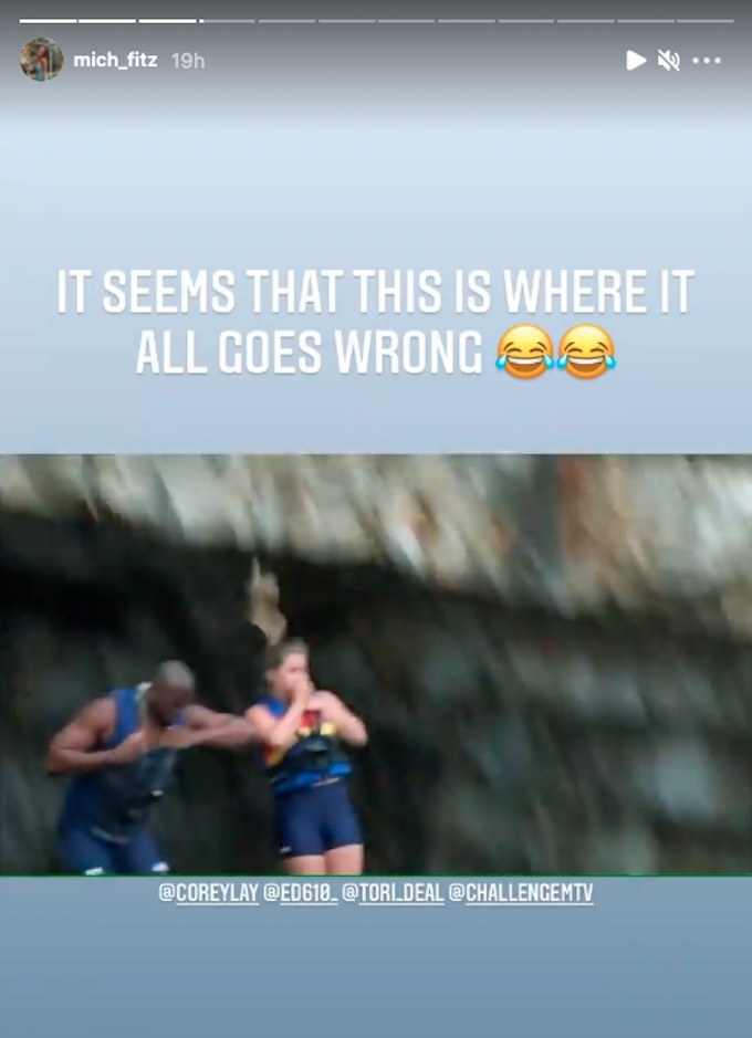 michele fitzgerald ig story about season 37 episode 3