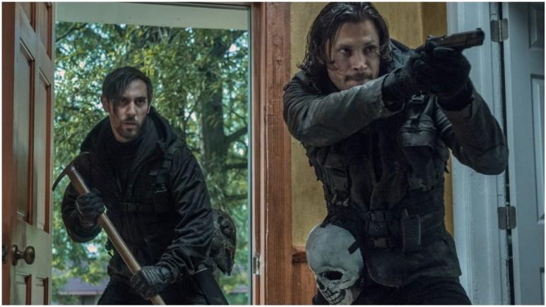 Alex Meraz as Carver and Eric Leblanc as Powell, as seen in Episode 6 of AMC's The Walking Dead Season 11
