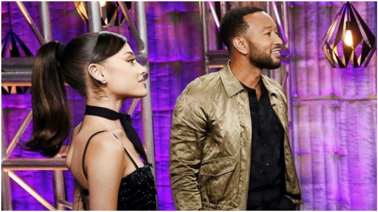 Ariana Grande and John Legend on The Voice