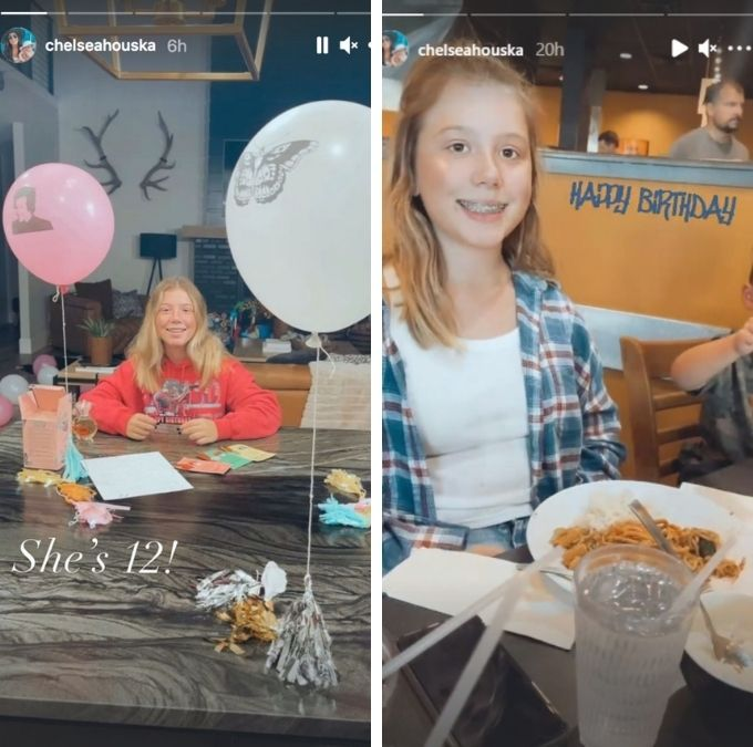 chelsea houska shared pics of daughter aubree for her 12th birthday on instagram stories