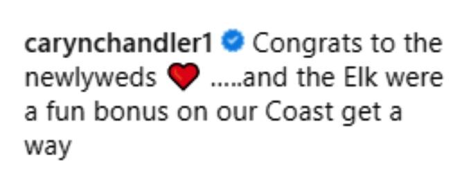 caryn chandler congratulated amy roloff and chris marek on matt roloff's instagram post