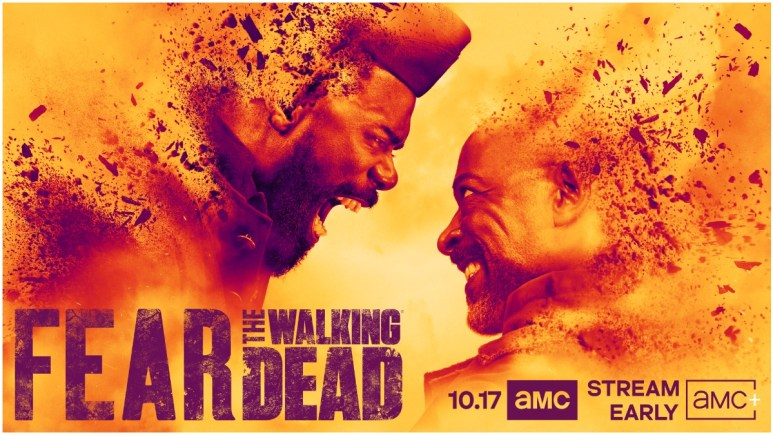 Colman Domingo as Victor Strand and Lennie James as Morgan Jones, as seen in key artwork for Season 7 of AMC's Fear the Walking Dead