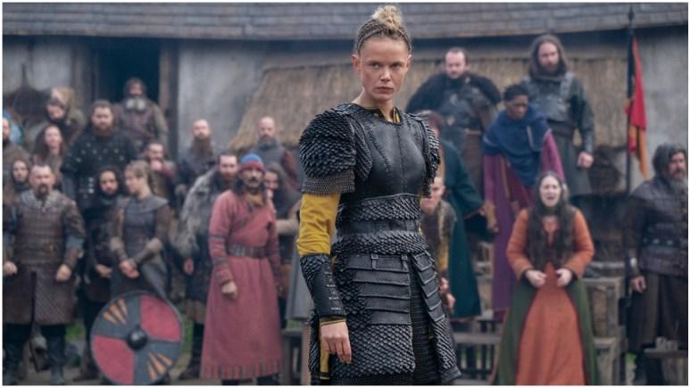 Newly released promotional still featuring Frida Gustavsson as Freydis Eriksdotter in Season 1 of Netflix's  Vikings: Valhalla