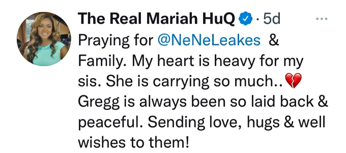Mariah Huq sends love to NeNe Leakes