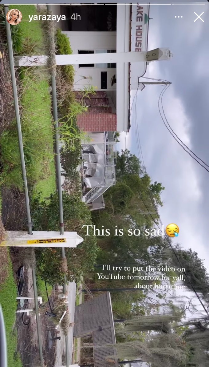Yara Zaya shares photo after returning home to Louisiana