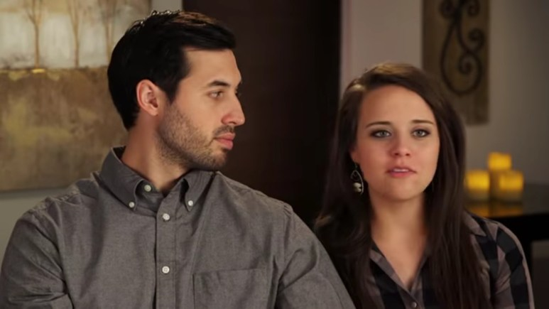 Jeremy and Jinger in a Counting On confessional.