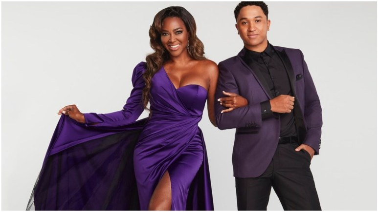 Kenya Moore and Brandon Armstrong on DWTS