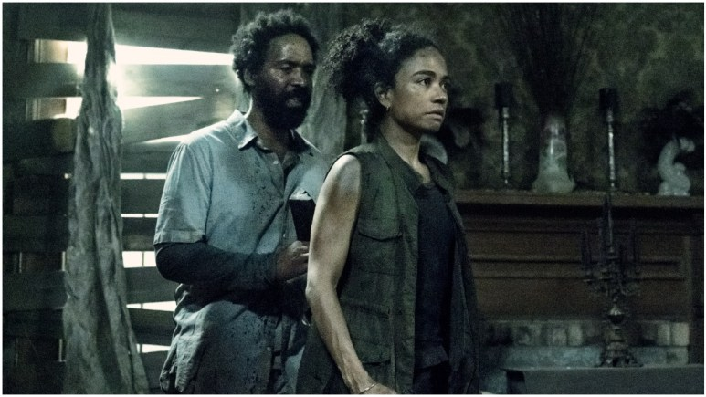 Kevin Carroll as Virgil and Lauren Ridloff as Connie, as seen in Episode 6 of AMC's The Walking Dead Season 11