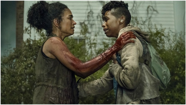 Lauren Ridloff as Connie and Angel Theory as Kelly, as seen in Episode 6 of AMC's The Walking Dead Season 11