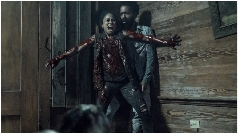 Lauren Ridloff as Connie and Kevin Carroll as Virgil, as seen in Episode 6 of AMC's The Walking Dead Season 11