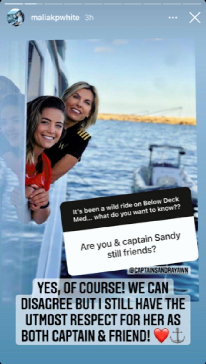 Malia White talks Captain Sandy