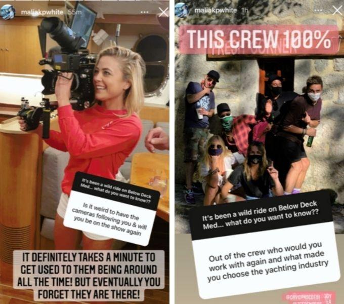 Malia White filming and Season 6 crew