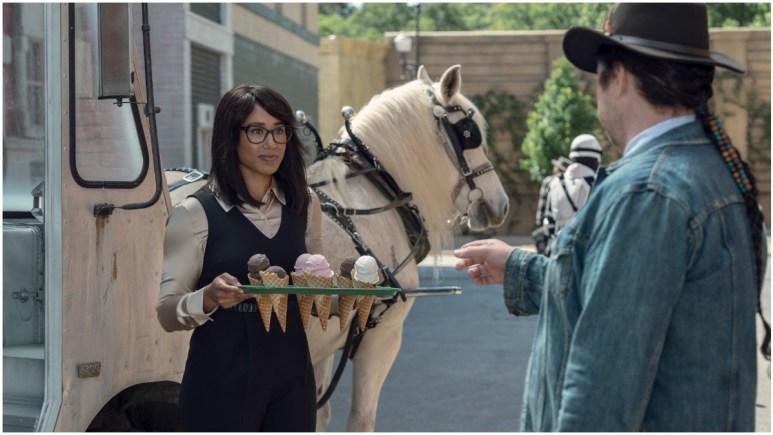 "Margot Bingham as ""Max"" and Josh McDermitt as Eugene, as seen in Episode 5 of AMC's The Walking Dead Season 11"