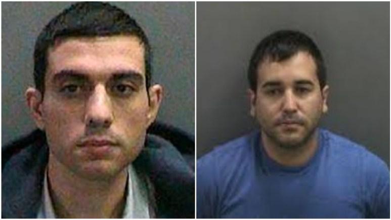 Mugshots of Hossein Nayeri and Kyle Handley