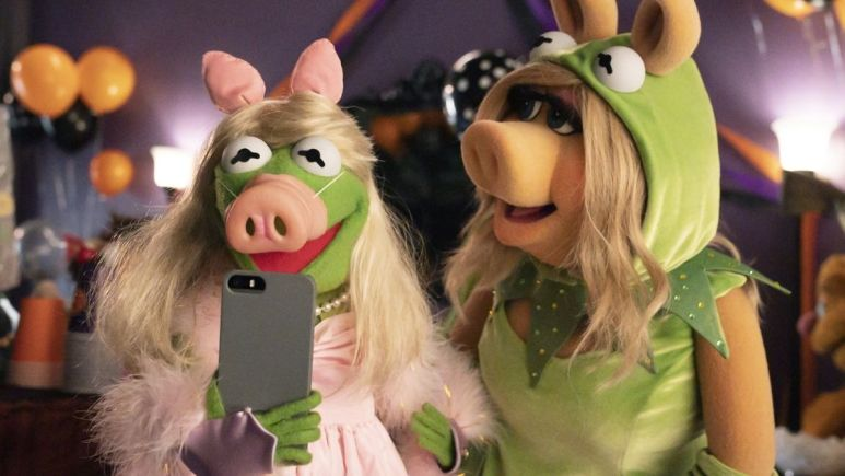 Production still from the Muppets Halloween special