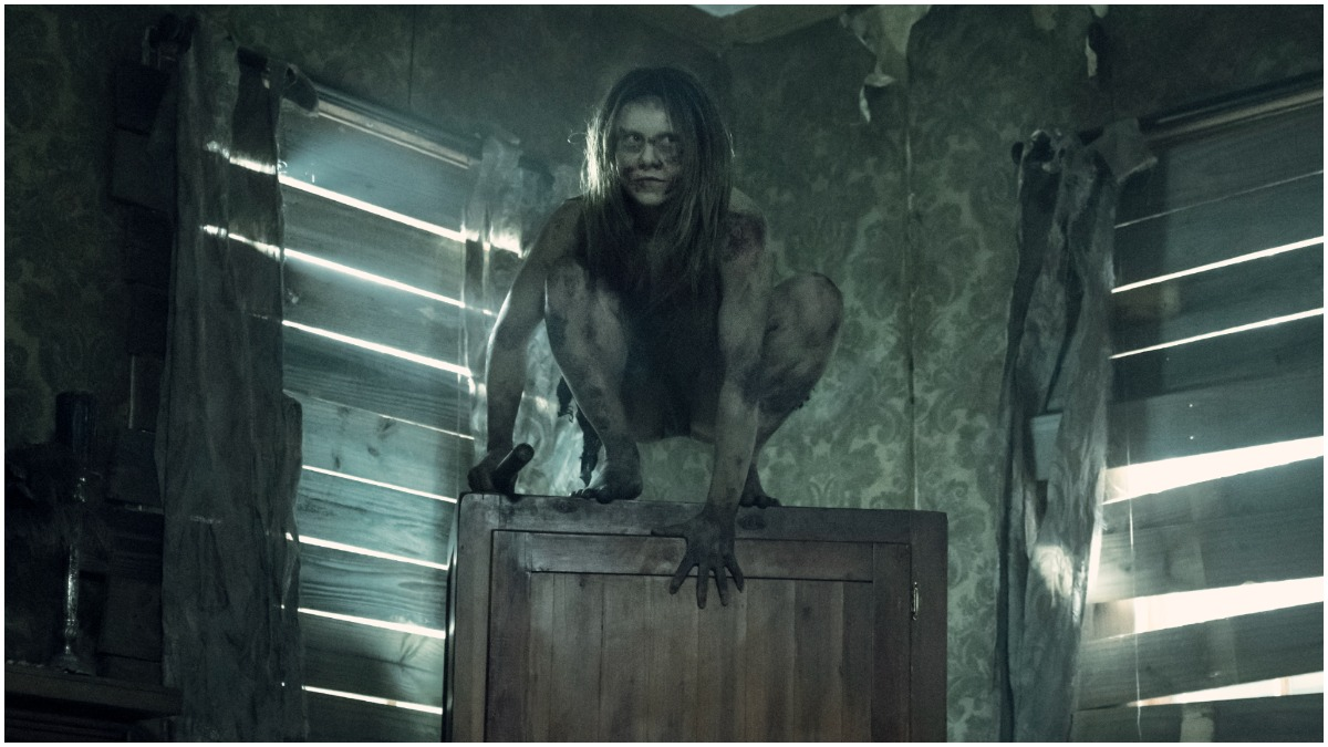 One of the feral creatures featured in Episode 6 of AMC's The Walking Dead Season 11
