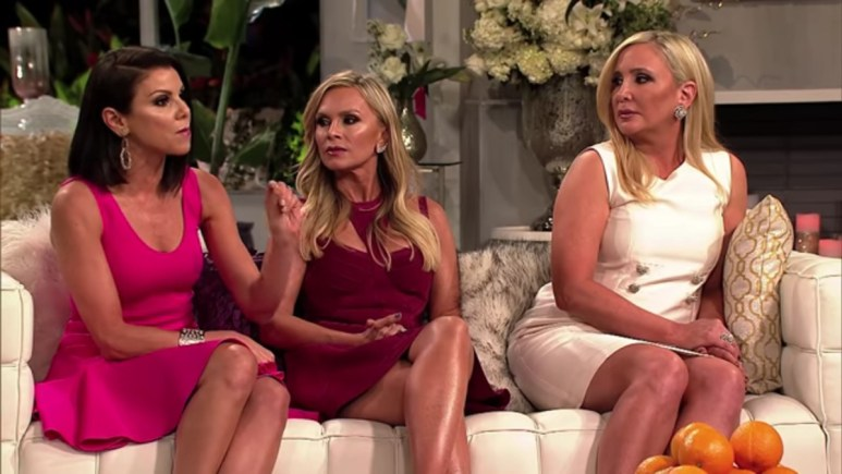 Heather, Tamra, and Shannon at the RHOC reunion.