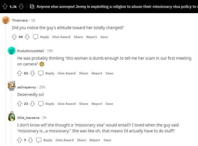 Reddit comments on Jenny Slatten