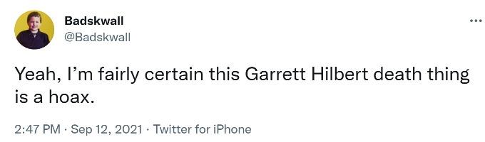 Another screenshot questioning if Garrett had died.