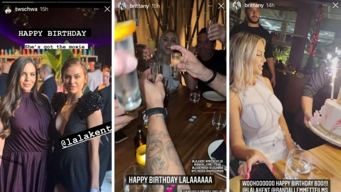 Brittany and Tom wish Lala a happy birthday.