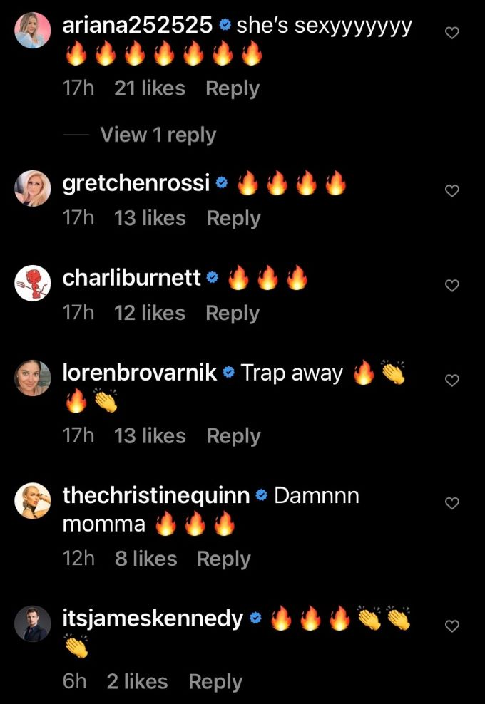 Comments from Scheana's IG posts.
