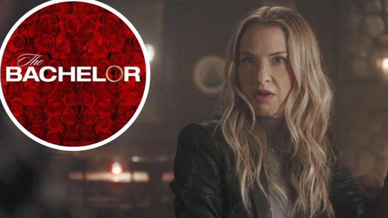 Leslie Grossman in American Horror Story and The Bachelor logo