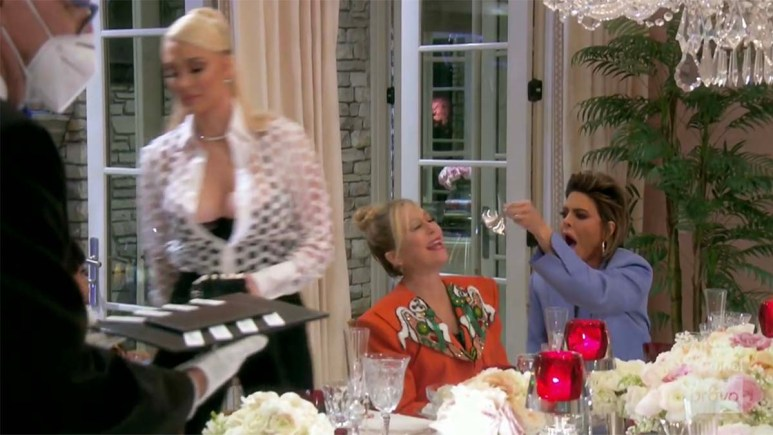 RHOBH scene with Lisa Rinna and the bell