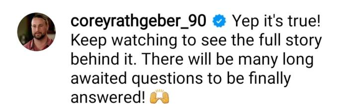 corey rathgeber confirmed his marriage to evelin villegas on instagram