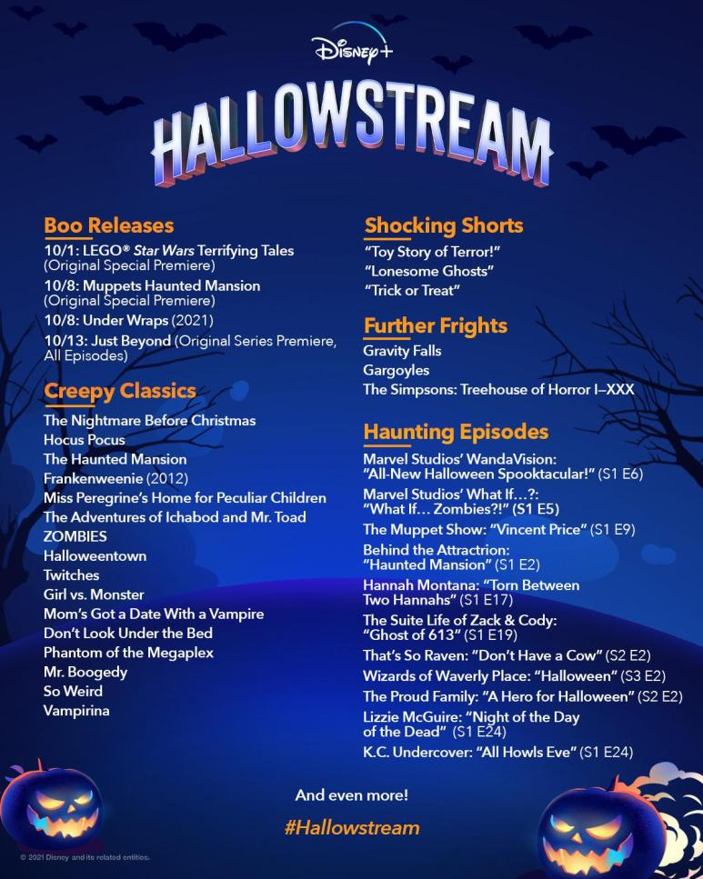 Image of the Hallowstream schedule