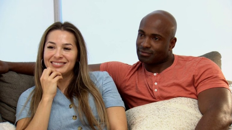 MAFS Myrla and Gil cozy up on the couch
