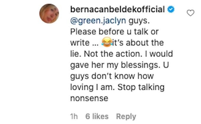 berna canbeldek reacts to fan comments challenge episode 7