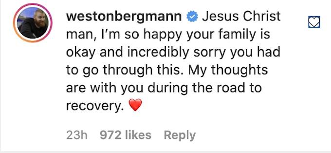 wes bergmann comments tony raines hurricane ida incident