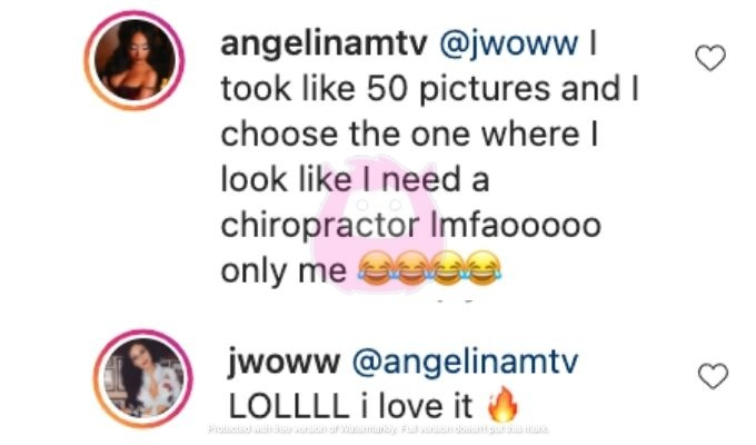 Jenni and Angelina joke