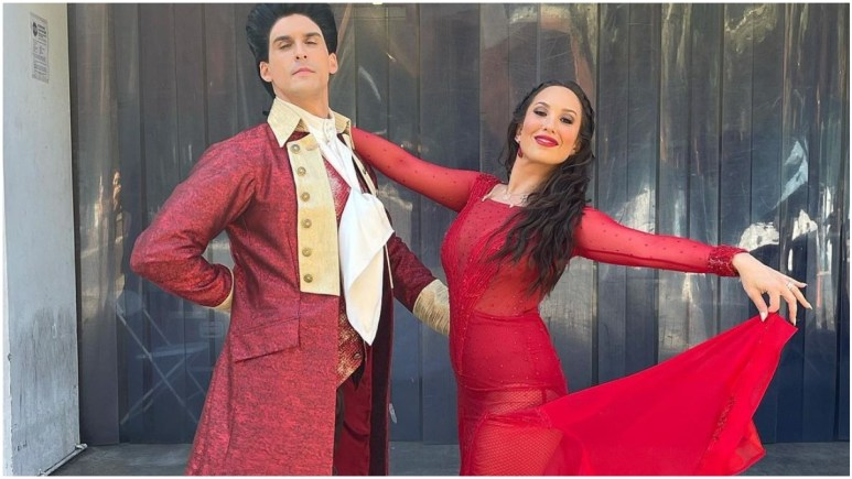 Cody Rigsby and Cheryl Burke on Dancing With the Stars