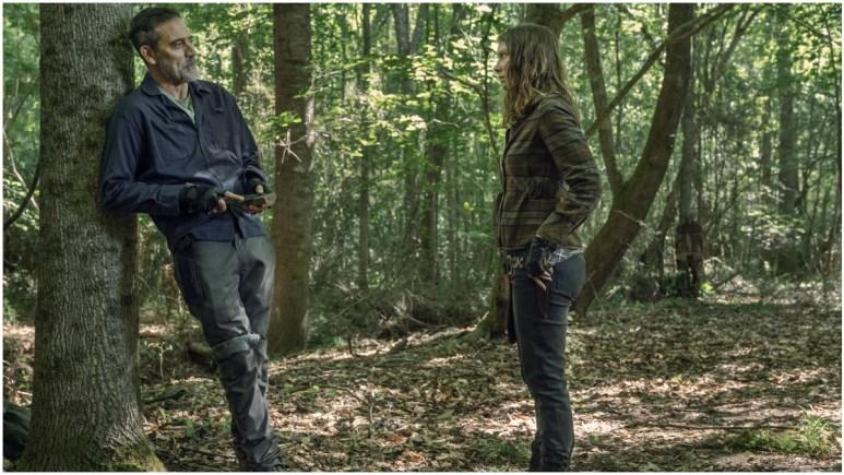 Jeffrey Dean Morgan as Negan and Lauren Cohan as Maggie Rhee, as seen in Episode 7 of AMC's The Walking Dead Season 11