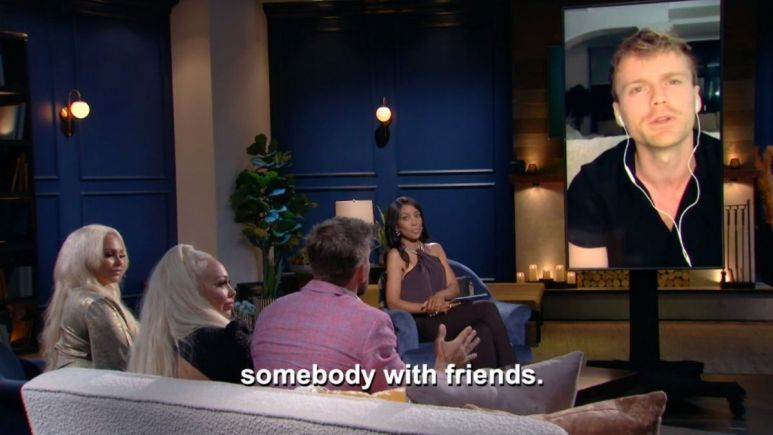 Darcey, Stacey, and Florian talking to Jesse