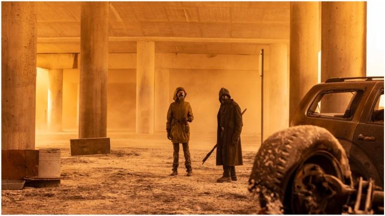 Karen David as Grace and Lennie James as Morgan, as seen in Season 7 of AMC's Fear the Walking Dead
