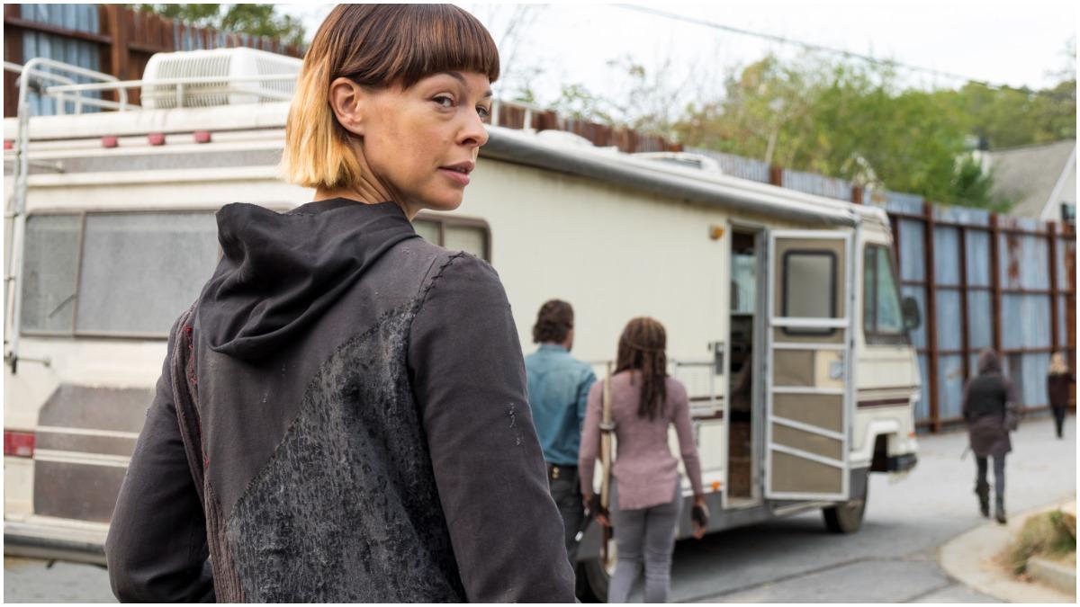 Pollyanna McIntosh stars as Jadis, as seen in Episode 16 of AMC's The Walking Dead Season 7