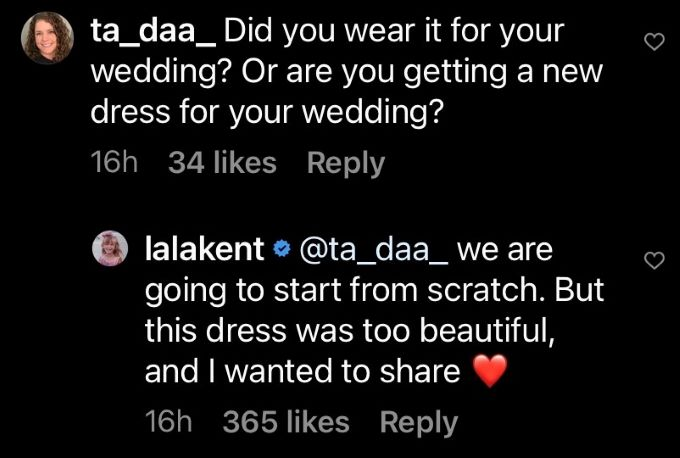 Comment from Lala Kent's IG post.