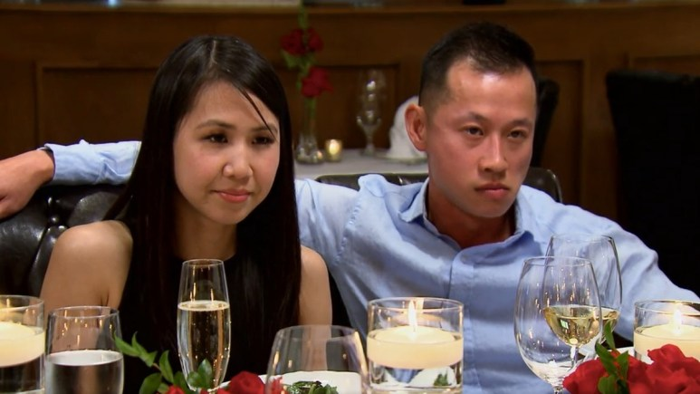MAFS couple Johnny and Bao cozy up at dinner