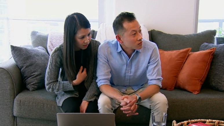 MAFS Johnny Lam turns away while wife, Bao is talking to him