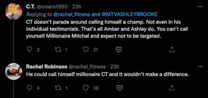 fan reacts to the challenge season 37 tweet from rachel robinson
