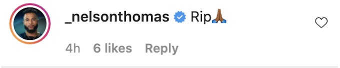 nelson thomas reacts ig post chris pearson death
