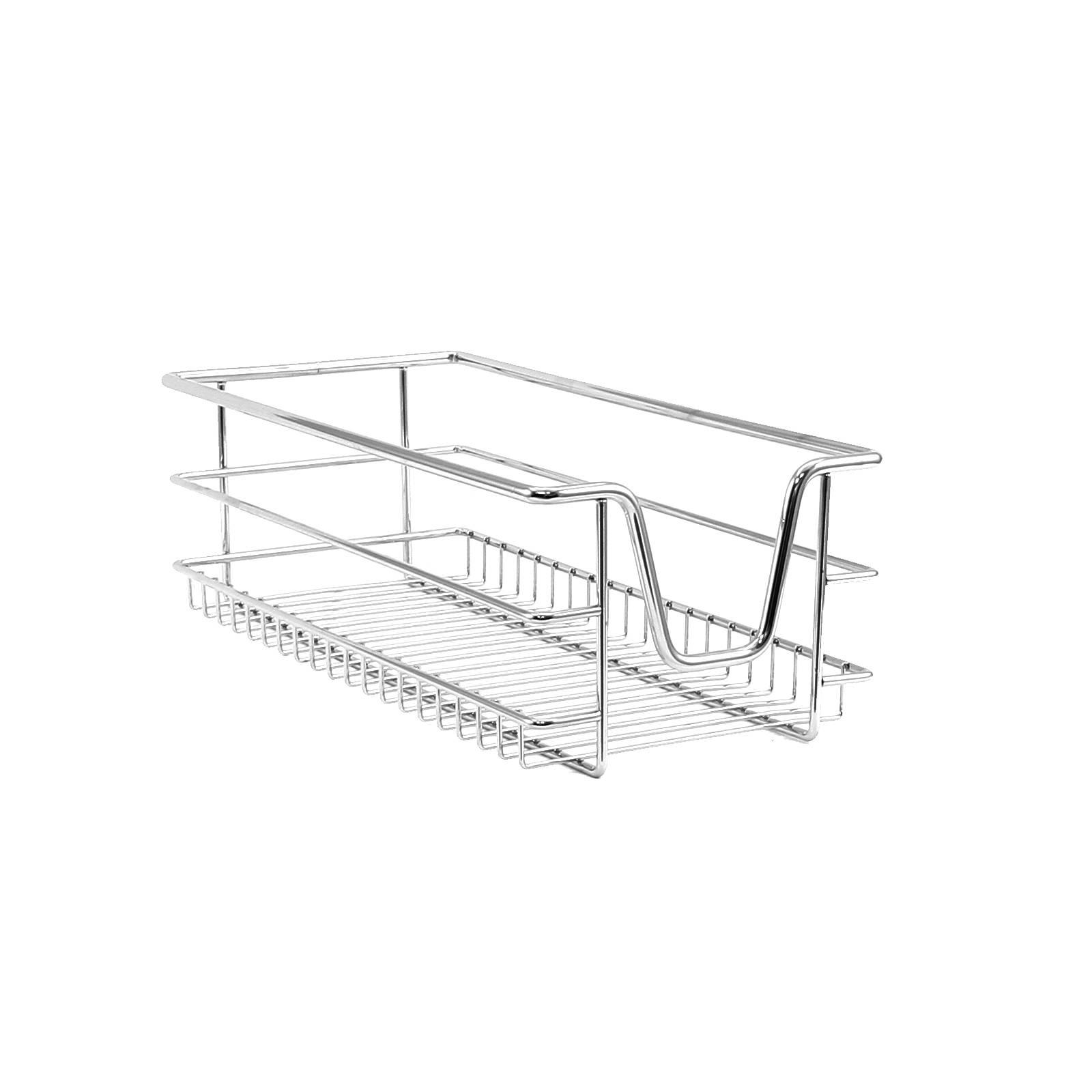 2 Kitchen Wire Baskets Pull Out Storage Drawer Slide Out Larder Cupboard 30cm